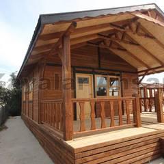 KAYALAR AHŞAP KERESTE ÜRÜNLERİ – Ahşap ev yapımı: minimal tarz tarz Bahçe