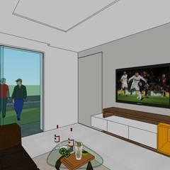 Conjunto residencial campestre: Salas / recibidores de estilo  por MARATEA Estudio, Moderno