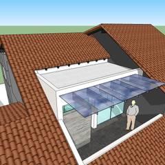 Terraza de planta alta: Terrazas de estilo  por MARATEA Estudio