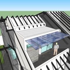 Detalle de estructura de techos: Terrazas de estilo  por MARATEA Estudio
