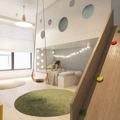 Mieszkanie z marmurem, Katowice 80 m2: styl , w kategorii Pokój dziecięcy zaprojektowany przez TIKA