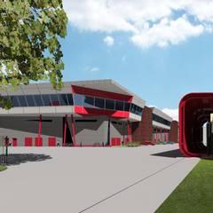 Depot tram LRT: Garage/Rimessa in stile  di Studio Associato di architettura MBiM