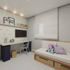 Dormitório da Adolescente: Quartos  por Estúdio 4V - Arquitetura e Construção