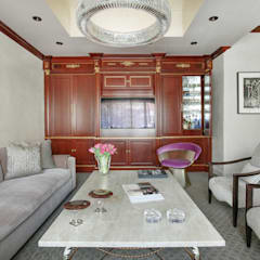 Art Collectors Residence:  Media room by JKG Interiors