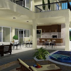 Projeto Arquitetura Residencial DM Varandas, alpendres e terraços clássicos por arquiteto bignotto Clássico