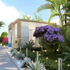 Landscaping in Dubai of Katrina Antonovich:  Houses by Luxury Antonovich Design, Mediterranean