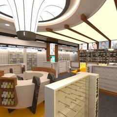 Etit Mimarlık Tasarım & Uygulama – Bahçeşehir Eczanesi:  tarz Dükkânlar