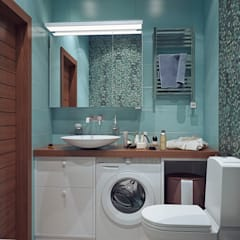 ПАНОРАМА СКОЛКОВО, МЯГКИЙ LOFT: Ванные комнаты в . Автор – Loft&Home