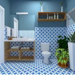 Lavabo: Banheiros  por Atelie 3 Arquitetura