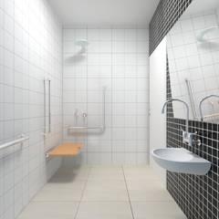 Banheiro PNE: Banheiros  por Atelie 3 Arquitetura