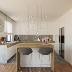 RIFLESSO: styl , w kategorii Kuchnia zaprojektowany przez Ludwinowska Studio Architektury