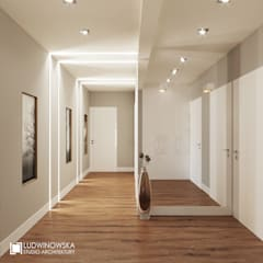 ludwinowska.pl: styl , w kategorii Korytarz, przedpokój zaprojektowany przez Ludwinowska Studio Architektury