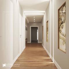 CAFFE LATTE: styl , w kategorii Korytarz, przedpokój zaprojektowany przez Ludwinowska Studio Architektury,