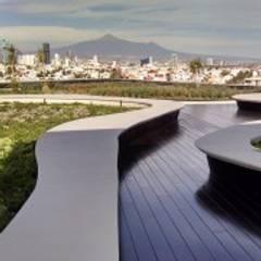 DECK DE BAMBÚ : Jardines de estilo mediterraneo por MARMI ST ANGELO