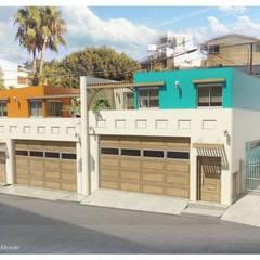 Departamentos Hipodromo: Casas de estilo  por ALUR Arquitectos