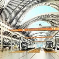 Maintenance Depot: Garage/Rimessa in stile  di Studio Associato di architettura MBiM
