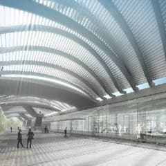 Garajes y galpones de estilo  por Studio Associato di architettura MBiM