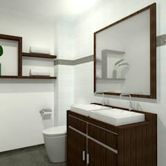proyecto country sur: Baños de estilo  por JELKH Design Architects s.a.s