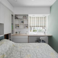 Dormitorios de estilo  por 倍果設計有限公司