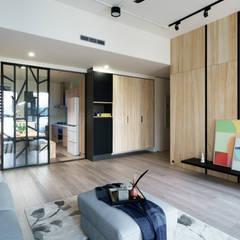 無邊光色 歸國夫妻的北歐新婚宅:  牆面 by 羽筑空間設計