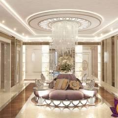   Entrance interior design ideas by Katrina Antonovich:  Corridor & hallway by Luxury Antonovich Design, Modern