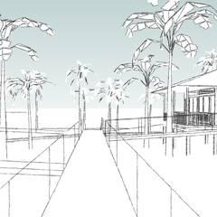 Pousada Jericoacoara Corredores, halls e escadas tropicais por ARM ARQUITETURA E URBANISMO Tropical