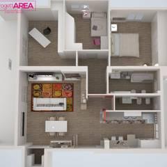 Ristrutturazione casa privata Taranto: Sala da pranzo in stile  di progettAREA interni & design
