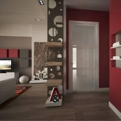 Pasillos y vestíbulos de estilo  por progettAREA interni & design
