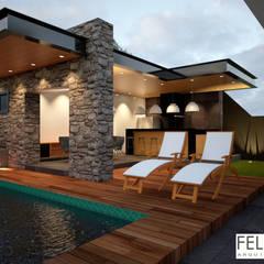 Gourmet: Piscinas minimalistas por Felipe Yure Arquitetura Design