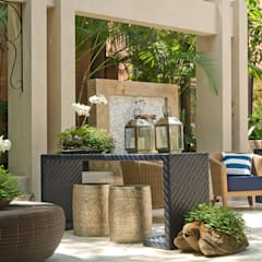 Patio / varanda : Terraços  por Interart Design de Interiores
