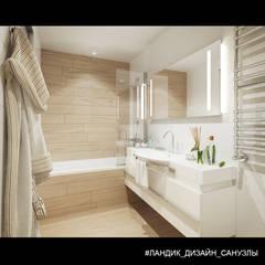 Однокомнатная квартира в современном стиле: Ванные комнаты в . Автор – LANDIK INTERIOR DESIGN, Модерн