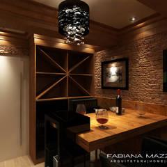 Wine cellar by Fabiana Mazzotti Arquitetura e Interiores