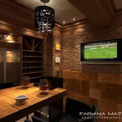 Adegas rústicas por Fabiana Mazzotti Arquitetura e Interiores Rústico