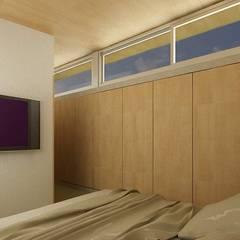 CASA UNO (2012): Dormitorios de estilo  por unoenseis Estudio