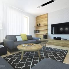 Dom 160m2 - Kraków: styl , w kategorii Salon zaprojektowany przez INNers - architektura wnętrza