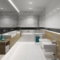 Dom 160m2 - Kraków: styl , w kategorii Łazienka zaprojektowany przez INNers - architektura wnętrza
