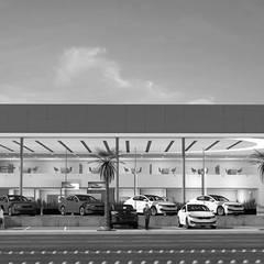 Kia Motors Cd Juarez Mx: Concesionarias de automóviles de estilo  por Escala 1:1 Architect's