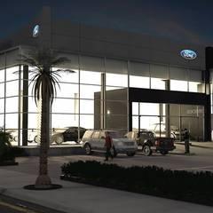 Ford / Lincoln Ciudad Juárez: Concesionarias de automóviles de estilo  por Escala 1:1 Architect's