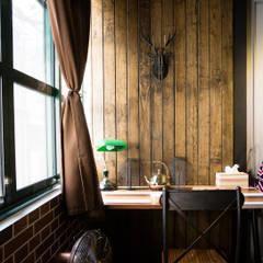 走進福爾摩斯 Baker Street 貝克街的英倫套房:  商業空間 by Lee Design International 空間&室內設計, 鄉村風 實木 Multicolored