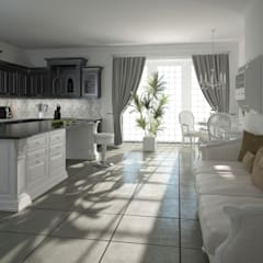 Kitchen drawing room in the house:  Dining room by Design studio by Anastasia Kovalchuk