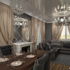 Townhouse in style of an art deco:  Dining room by Design studio by Anastasia Kovalchuk