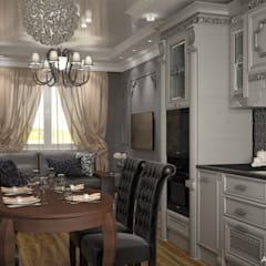 Townhouse in style of an art deco: classic Dining room by Design studio by Anastasia Kovalchuk