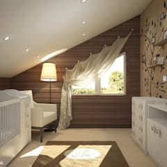 Townhouse in style of an art deco:  Nursery/kid's room by Design studio by Anastasia Kovalchuk