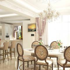 Villa:  Dining room by Design studio by Anastasia Kovalchuk