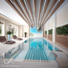 Villa with the pool:  Pool by Design studio by Anastasia Kovalchuk