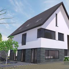 Woning Waterrijk Woerden: moderne Huizen door Architectenbureau van den Hoeven b.v.