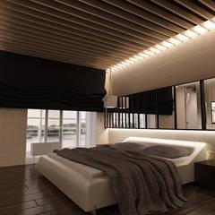 Апартаменты «LIBERO» Спальня в эклектичном стиле от ART Studio Design & Construction Эклектичный