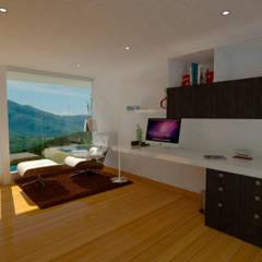 Interior Biblioteca: Estudios y despachos de estilo moderno por Studio 21.11
