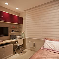 Apartamento Icaraí 01: Quartos  por Deise Maturana arquitetura + interiores,Moderno