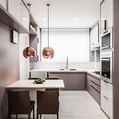 آشپزخانه توسطFlávia Kloss Arquitetura de Interiores, مدرن ام دی اف